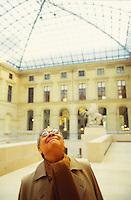 I.M. Pei at the Pyramid du Louvre