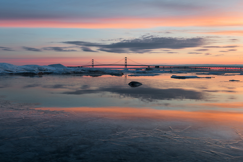The sky over Mackinac shows its stunning display just minutes before sunrise.