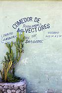 Cafe wall in Playa Baracoa, Artemisa, Cuba.