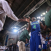 St. Georges Hawks Guard PAUL BROWN (4) is introduce to the crowd prior to a Boys Basketball DIAA State Tournament Finals match between the Sanford Warriors and the St. Georges Hawks Saturday, Mar. 12, 2016, at The Bob Carpenter Sports Convocation Center in Newark, DEL.