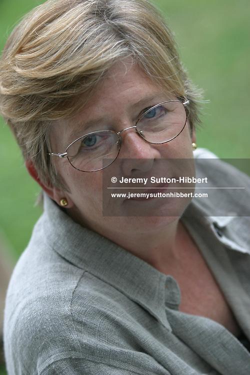 BARBARA EHRENREICH, AMERICAN WRITER AND COMMENTATOR...EDINBURGH INTERNATIONAL BOOK FESTIVAL 2003.EDINBURGH, SCOTLAND.