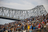 Philadelphia Union fans during a match between Aston Villa FC and Philadelphia Union at PPL Park in Chester, Pennsylvania, USA on Wednesday July 18, 2012. (photo - Mat Boyle)
