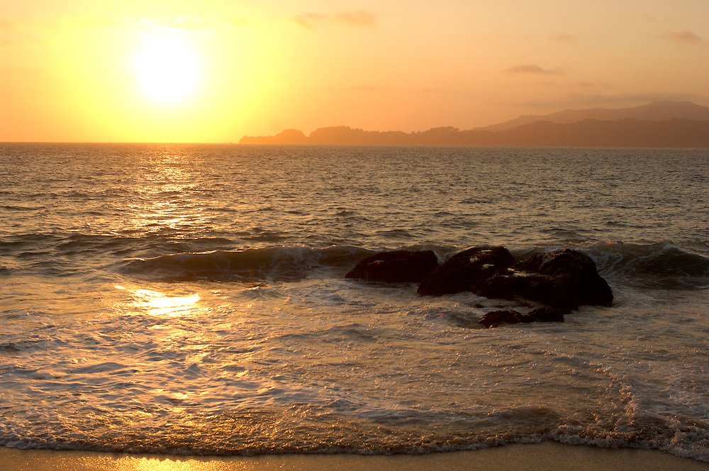 Sunset at Baker Beach, Golden Gate National Recreation Area, San Francisco, California, United States of America
