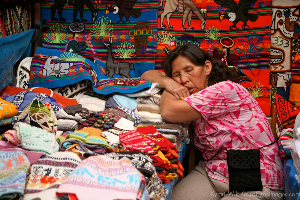 Americas, South America, Peru, Pisac. Sleeping on the job. Peruvian style.