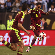 Venezuela Midfielder ALEJANDRO GUERRA (15) passes the ball in the second half of a Copa America Centenario Group C match between Uruguay and Venezuela Thursday, June. 09, 2016 at Lincoln Financial Field in Philadelphia, PA.