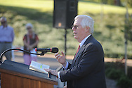 James L. Robertson gives his remarks at the dedication of Silver Pond  in Oxford, Miss. on Friday, September 30, 2011. James W. Silver was a professor who joined the Ole Miss faculty in 1936 and served as chair of the history department from 1946 to 1957. During the segregationist era, Silver was frequently at odds with state political leaders, but never daunted by them. He was a constant critic of racial taboos and spoke out against them, often in letters to the editors of various newspapers in the region. His 1964 treatise, ÒMississippi: The Closed Society,Ó became one of the most talked-about books to come out of the state during the period.