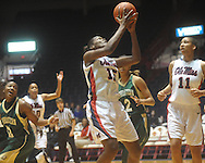 """Ole Miss' Pa'Sonna Hope (15) shoots at the C.M. """"Tad"""" Smith Coliseum in Oxford, Miss. on Saturday, December 11, 2010."""