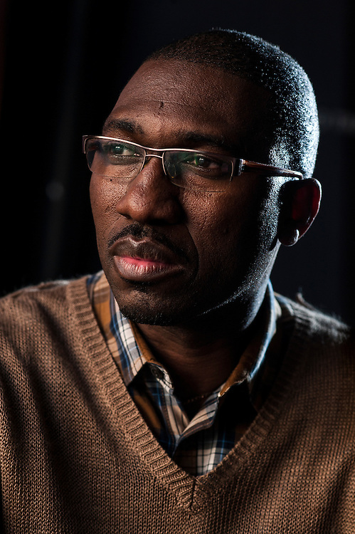 """Photo by Matt Roth.Assignment ID: 30141716A..Kwame Kwei-Armah is the executive director of Centerstage in Baltimore and a playwright whose """"Beneatha's Place"""" explores related territory to """"A Raisin in the Sun"""" and """"Clybourne Park."""" He's programming them all together at his theater. He is photographed at Centerstage  Thursday, April 25, 2013..."""