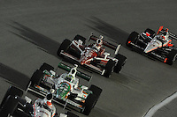 Scott Dixon, Tony Kanaan, Helio Castroneves, Cafes do Brasil Indy 300, Homestead Miami Speedway, Homestead, FL USA,10/2/2010