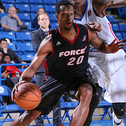 Sioux Falls Skyforce Forward Scotty Hopson (20) drives past Delaware 87ers Guard Jamal Jones (22) on defense in the Second half of a NBA D-league regular season basketball game between the Delaware 87ers and the Sioux Falls Skyforce (Miami Heat) Tuesday, Jan. 27, 2015 at The Bob Carpenter Sports Convocation Center in Newark, DEL