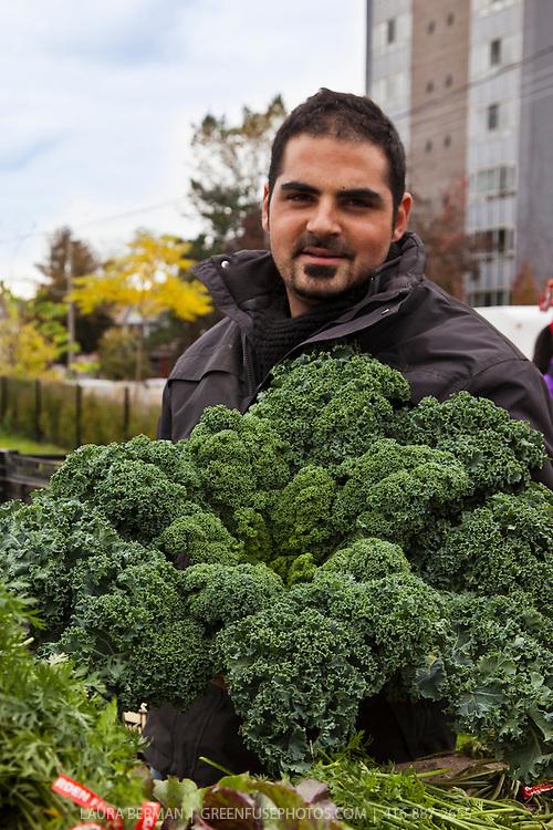 Highmark Farms kale at Wychwood farmers Market