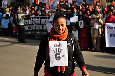 JAN 1 2013 Protest against sexual violence in Kathmandu