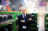 Marco Tronchetti Provera, Chairman and CEO of Pirelli, stands for a portrait at the company's tire factory in the city of Jining in Shandong Province, China on Thursday, February 24, 2011. Despite rising rubber costs, Tronchetti Provera sees a stronger than expected growth for tires globally led by China and the Asia pacific region which has allowed them to raise their revenue forecast for Asia from 15% to 20% growth for 2011.