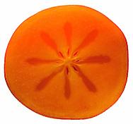 Half of fresh persimmon