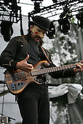 Les Claypool performs during the second day of the 2008 Bonnaroo Music & Arts Festival on June 13, 2008 in Manchester, Tennessee. The four-day music festival features a variety of musical acts, arts and comedians. Photo by Bryan Rinnert