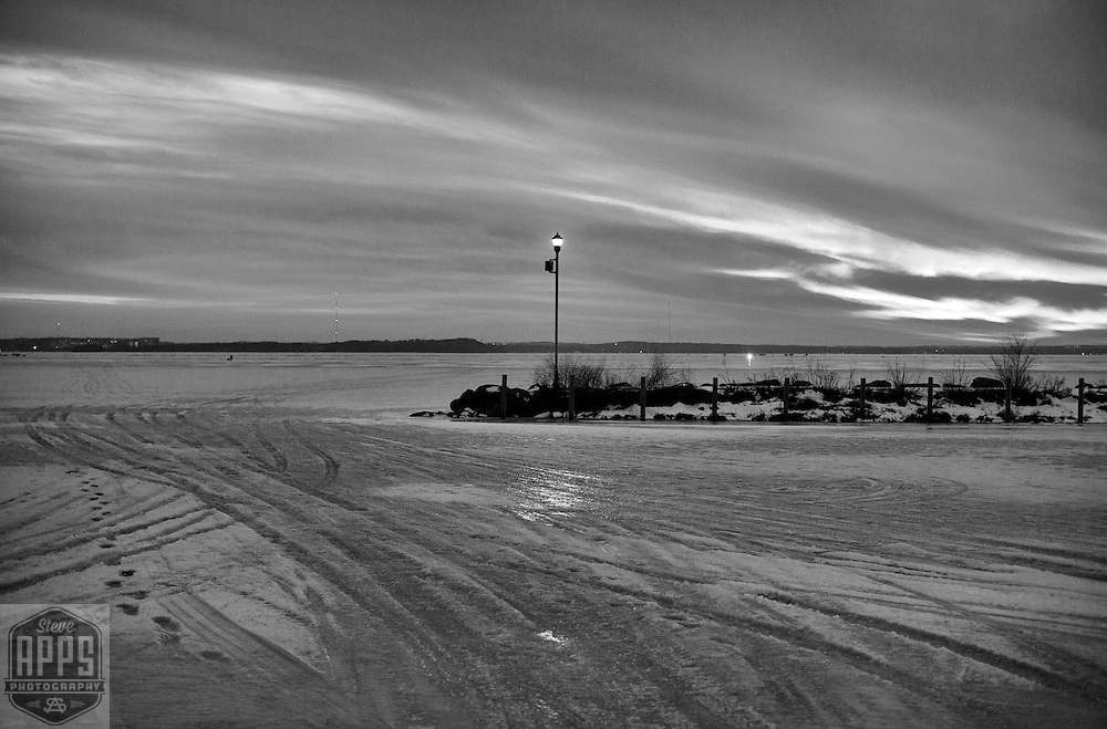 Warner Park boat launch on Lake Mendota in Madison, Wisconsin Friday, Feb. 10, 2017.
