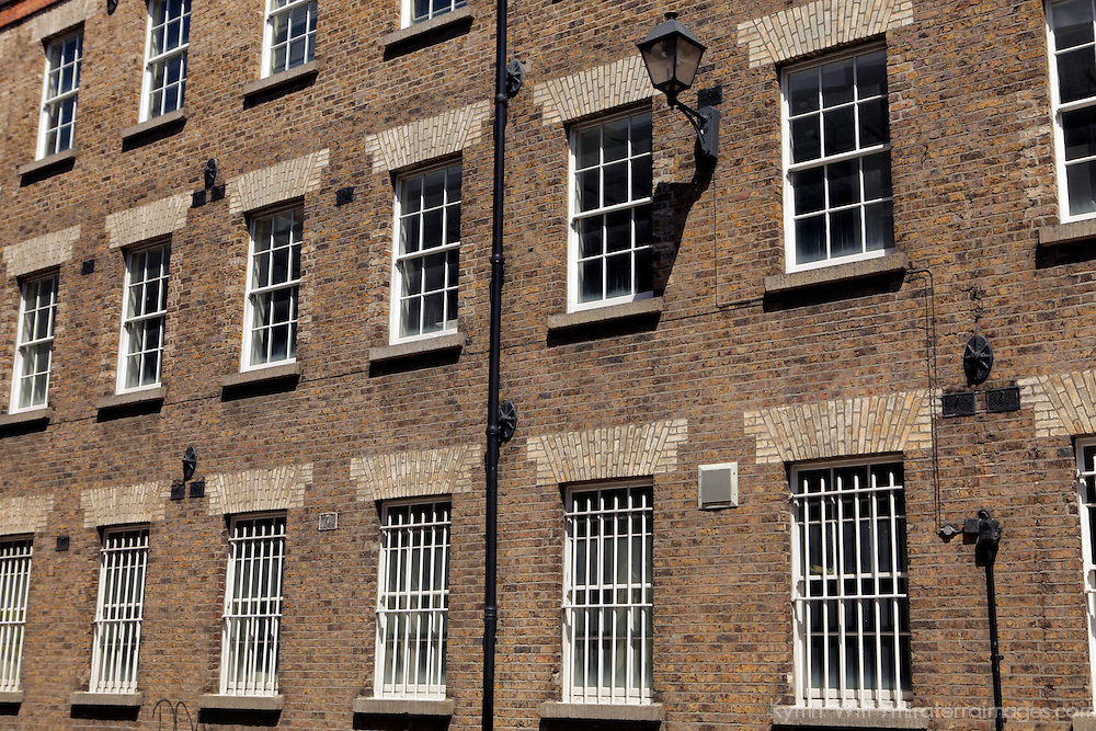 Europe, Ireland, Dublin. Windows and brick.