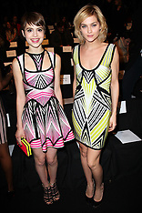 FEB 09 2013 Celebrities at Herve Leger show at New York Fashion Week A/W 2013