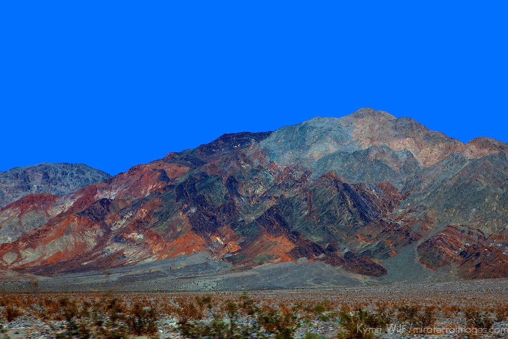 USA, California, Death Valley. Landscape of the Mojave Desert region near Death Valley.