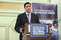 USAID Administrator Shah at University of Notre Dame Global Development Lab conference. The Williard InterContinental Hotel