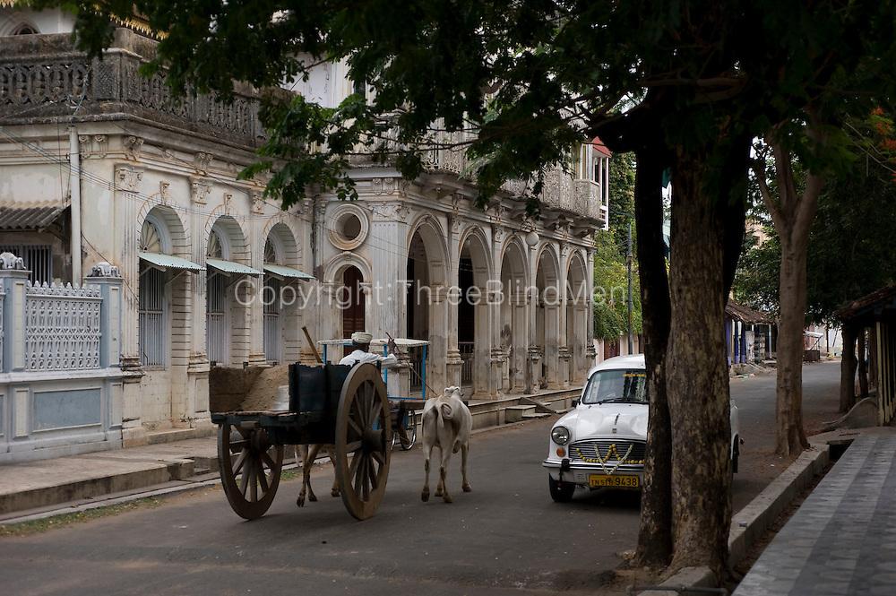 Street in old quarter of Karaikkal.