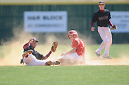 Lafayette High's Josh Keel is caught stealing vs. Horn Lake in Oxford, Miss. on Tuesday, March 12, 2013.