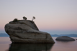 """Bonsai Rock, Lake Tahoe""- Bonsai Rock, near Sand Harbor, was photographed at sunrise."