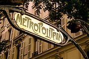 Image of the Bastille Metro entrance in Paris, France