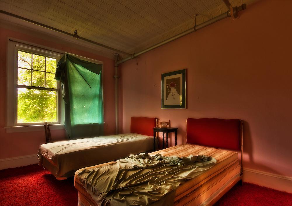 The Abandoned Hotel Adler in Sharon Springs NY New York.
