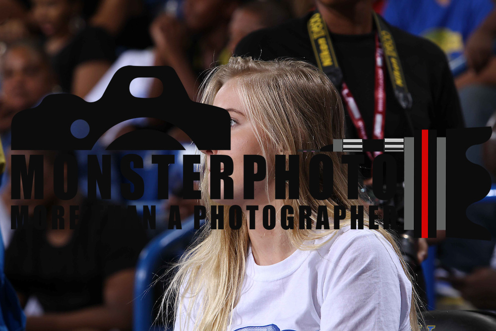 Veronica Dunne watches the game from the sidelines during The 2015 Duffy's Hope Celebrity Basketball Game Saturday, August 01, 2015, at The Bob Carpenter Sports Convocation Center, in Newark, DEL.    <br /> <br /> Proceeds will benefit The Non-Profit Organization Duffy's Hope Youth Programming.