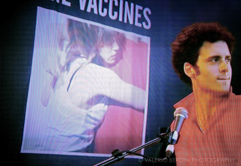 Glastonbury Festival on the BBC .The Vaccines