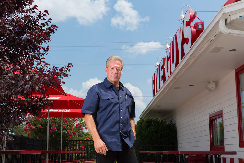 Mark Moseley of Five Guys poses for a portrait in Winchester, VA, on July 31, 2014.
