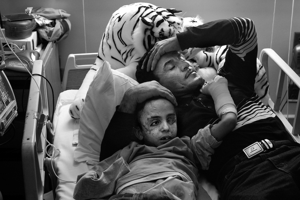 Raheem would Saleh comfort Saleh in his hospital bed until he fell asleep. Raheem lost his oldest son, Dia, in the explosion that maimed Saleh and did not have the heart to tell Saleh his older brother had died.