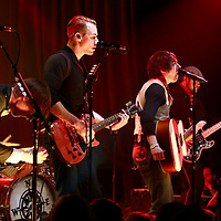 Plain White Ts performing at The Highline Ballroom in NYC on February 22, 2011...Tom Higgenson - lead vocals.Ken Fletcher - guitar and back up vocals