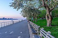 Riverside Park on the Upper West Side, Spring, Manhattan, New York City, New York, USA designed by Frederick Law Olmsted