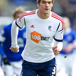 BOLTON, ENGLAND - Saturday, January 26, 2013: Bolton Wanderers' Marcos Alonso in action against Everton during the FA Cup 4th Round match at the Reebok Stadium. (Pic by David Rawcliffe/Propaganda)