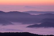 France, Languedoc Roussillon, Gard (30), Cevennes, région Le Vigan, vue depuis le col de la Cravatte