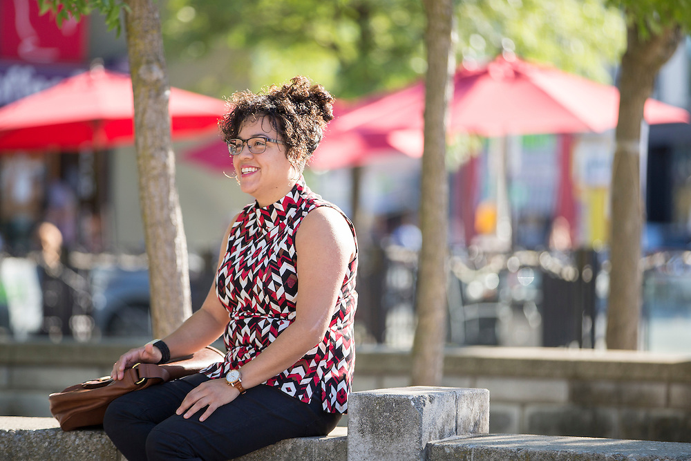 London, Ontario ---2016-09-24--- Viviana Moran sits at Victoria Park near her home in downtown London, Ontario, September 24, 2016. Viviana, originally from Ecuador, who originally came to Canada to study at Bishops University in Quebec is now being forced to quit her job and leave after her work visa was not extended.<br /> GEOFF ROBINS The Globe and Mail