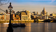 Early Morning Sunrise over the City and River Thames, London, Britain - 18-01-2017