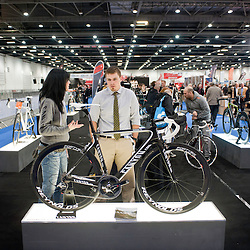 London, UK - 17 January 2013: visitors at the London Bike show 2013 at Excel.