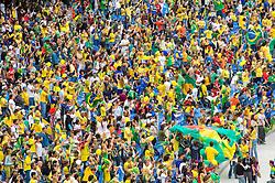 Jogos Pan-americanos Rio 2007. Final do torneio de futebol feminino, Brasil X Eua, Brasil medalha de ouro. / Pan american games Rio 2007, Rio de janeiro. Final of female soccer BRAxUSA. Brazil golden medal