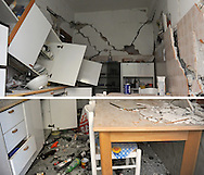 The remains of a kitchen