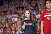Halftime show during Gonzaga Day at McCarthey Athletic Center, January 31, 2015. (Photo by Ryan Sullivan)