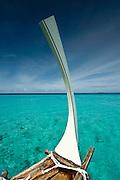Dhoni sail boat in the Maldives.