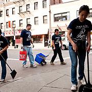 Senior Service Day in Boston's Chinatown. (Alonso Nichols/Tufts University)