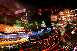"""Downtown Reno 5"" - These signs were photographed in Downtown Reno, Nevada. The effect was obtained in camera by long exposure mixed with intentional camera movement."