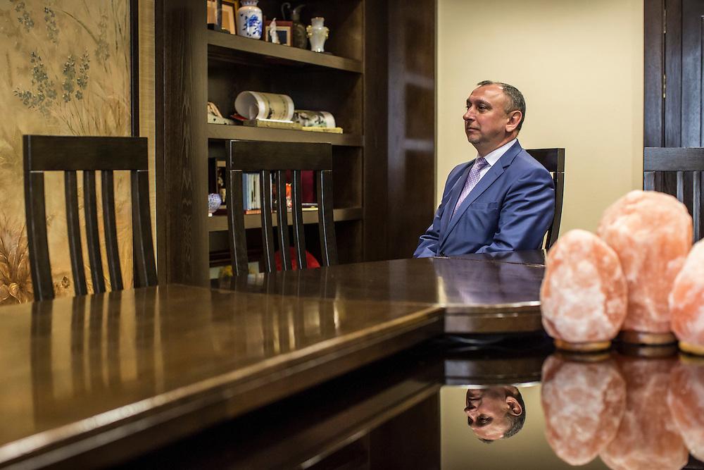 Deputy Economy Minister Aleksandr Yaroshenko poses for a portrait on Friday, September 23, 2016 in Minsk, Belarus.
