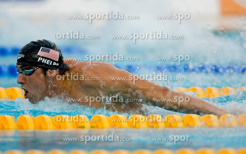Michael Phelps of USA competes during the Men's 200m Butterfly Semi-Final during the 13th FINA World Championships Roma 2009, on July 28, 2009, at the Stadio del Nuoto,  in Foro Italico, Rome, Italy. (Photo by Vid Ponikvar / Sportida)