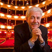 "David DiChiera, the General Director of the Michigan Opera Theatre, and the composer of ""Cyrano"" poses for a portrait before the Wednesday evening preformance of the opera in Philadelphia, Pa., 13 Feb. 2008. (Photograph by Jim Graham )"