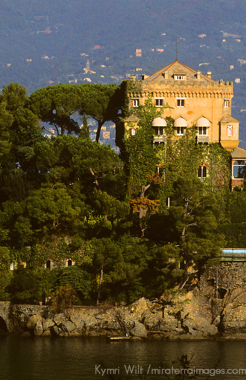 Europe, Italy, Portofino. Scenic life on the Mediteranean coast of Italy.